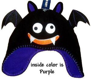 Fleece Beanie Halloween Hat Black Toboggan Little Boys Girls Scary Kids Cute cap