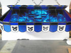 Blue Billiard Billiards Ball Skull Stained Glass Pool Table Light Lamp