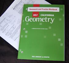 Holt GEOMETRY Student HOMEWORK & PRACTICE WORKBOOK w/ ANSWER KEY High School NEW