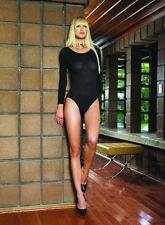 Leg Avenue Opaque Bodysuit One Size Black