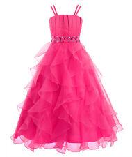 Vestido Largo Elegante de Ceremonia Boda Fiesta de Princesa Vestido para Niñas