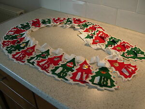HANDMADE BESPOKE BUNTING ADVENT CALENDAR XMAS TREES  PERSONALISED NEW
