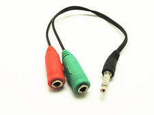 3.5mm AUX Audio Earphone Headphone Adapter Male to 2 Female Mic Y-Splitter Cable