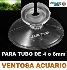 12X VENTOSA PARA TUBO DE 4MM o 6MM ACUARIO MANGUERA Aire Oxigenador CO2 difusor