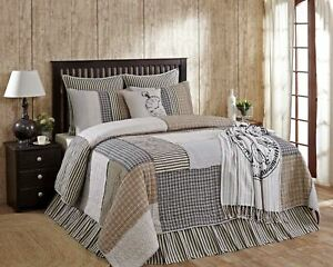 Blue and Gray Ashmont Quilt Hand Stitched Vintage-Style Reverse Seam Patchwork
