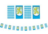 OKTOBERFEST PENNANT FLAG BANNER PARTY DECORATION GERMAN CREST BAVARIAN PLASTIC