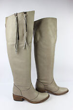 Bottes Cuissardes 1060 Cuir Beige taupe T 37 TBE