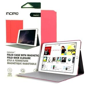 Incipio Faraday Durable Leather Folio Impact Protection Case for iPad Air 2