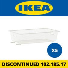 (5) IKEA ALGOT Mesh Basket, White 38x60x14 cm 102.185.17 *DISCONTINUED*