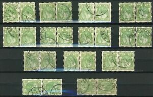 Netherlands - 60 ct Wilhelmina Bontkraag used in 13 pairs