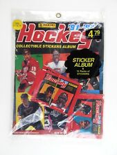 Vintage 1991-92 Panini NHL Hockey Collectible Stickers Album with 60 Stickers