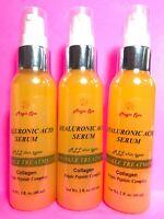 3*2oz 100% Pure HYALURONIC ACID Serum Collagen Matrixyl Wrinkle Filler Peptide