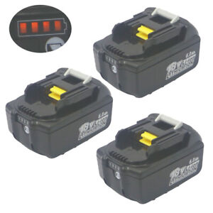 3pcs 18V li-ion battery 6AH 6000mAh for MAKITA BL1860 Power Tool Battery BL1850