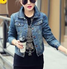 Women Vintage short denim jeans Coats spring Jeans jacket coat Hot #3