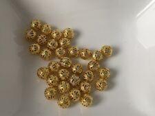 Wholesale 100Pcs cristal strass plaqué argent Blotter Spacer Beads 8 mm