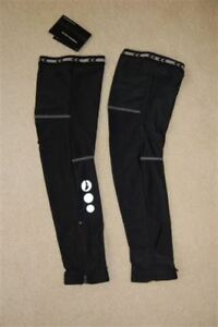 Lambda Black Lycra Zip Leg Warmers Cycling Bike  S M L XL XXL