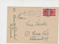Germany 1946 Allied Occupation to Thuringia Grimma Cancel Stamps Cover ref 23210