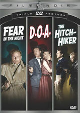 Film Noir (Fear In the Night / D.O.A. / The Hitch-Hiker) DVD Movie VG