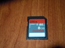 Sandisk BRANDED 8GB SDHC Ultra Memory Card - Class 10 - 30MB/S - SDSDU-008G-U46