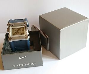 Rare Obsidian Blue Nike Hammer Mettle WC0021 401 Sports Fitness Watch
