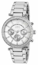 Invicta Womens Angel Stainless Steel Crystal-Accented Bracelet Watch
