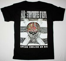S.O.D. STORMTROOPERS OF DEATH SPEAK ENGLISH OR DIE NEW BLACK T-SHIRT Men