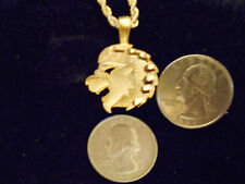 "bling gold plated big cat leo lion pendant charm 24"" rope chain hip hop necklace"