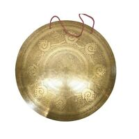 21.5 inches Extra large Tibetan Gong-Handmade gong-Mantra Carved Gong from Nepal