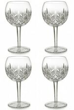 Waterford LISMORE Oversized Balloon Wine Glass 16 oz. (4) Four Glasses New