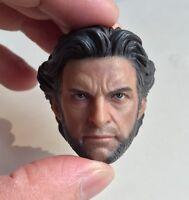 Custom Hugh Jackman Wolverine 1.0 1/6 Head Sculpt for Hot Toys Body Logan