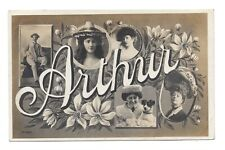 Vintage RP Greetings postcard 'ARTHUR' Glamorous ladies. pmk 1905