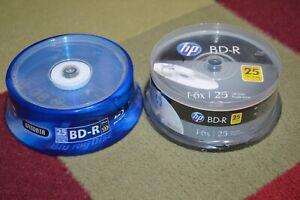 Windata + HP Bluray Discs BD-R 25GB Single Layer 1-6x Speed-50 Total 2x 25 Packs
