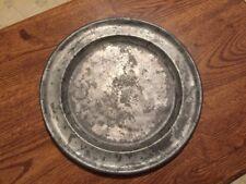 Antique 18th Century Richard King London Pewter Plate