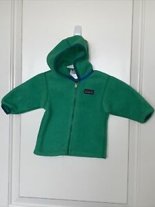 Patagonia Fleece green hood long sleeve 3 months VGUC