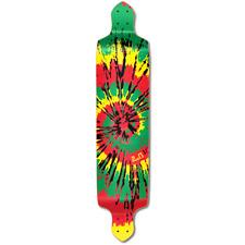 Yocaher Drop Down Tiedye Rasta Longboard Deck