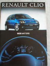 Renault Clio range brochure Aug 1999