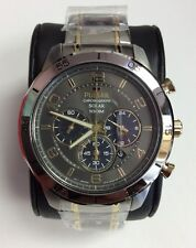 PULSAR Sport Collection Two Tone Stainless Steel Solar Chronograph WATCH PX5057