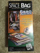 New Original SPACE BAG Storage Bags 6 Bag Combo Set 3 Medium and 3 Large Bags