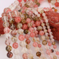 16'' Strand Watermelon Gemstone Round Spacer Beads Jewelry Findings 4/6/8/10MM