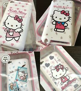 For iPod Touch 4th Generation - Hard Rubber Silicone Skin Case Cover Hello Kitty