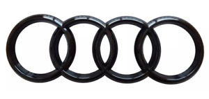 Glossy Black Audi Rings Rear Trunk Boot Emblem Badge Sticker Decal for A1 A3 A4