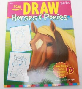 I Can Draw Horses and Ponies 1997 Art Instruction Joan Thompson Walter Foster