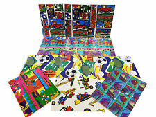 (12) Gift Wrapping Paper Birthday Circus Goofy Donald Sports Bulldozer Socer