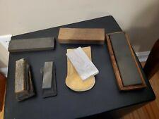 New ListingVintage Knife Sharpening Stones / Whetstones - Estate Lot of 6 -Various Sizes