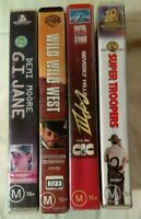 VHS Lot of 4 Large Case Titles: G.I. Jane, Wild Wild West, Super Troopers ++