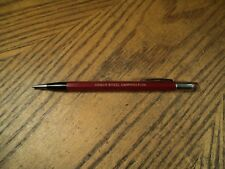 Vintage Autopoint Mechanical Pencil Advertising    Armco steel Corporation   Red