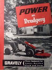 Gravely 1956 L Li Ls Walk-Behind Lawn Garden Tractor Color Sales Manual 5 h.p