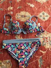 Marks  & Spencer Plunge Floral Bikini 36B/12 Bottom Excellent Condition