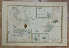 POLYNESIA TONGA ISLANDS 1780 by RIGOBERT BONNE ANTIQUE ENGRAVED MAP IN COLORS