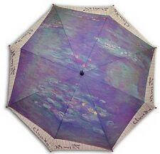 """Water Lilies"" painting long size automatic umbrella"